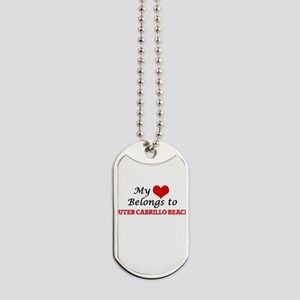 My Heart Belongs to Outer Cabrillo Beach Dog Tags