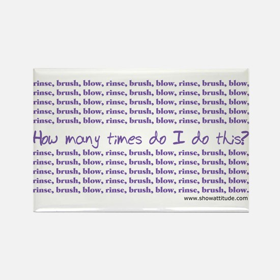 Rinse - Brush - Blow Rectangle Magnet