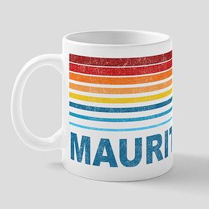 Retro Mauritius Palm Tree Mug