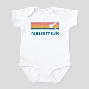 Retro Mauritius Palm Tree Infant Bodysuit
