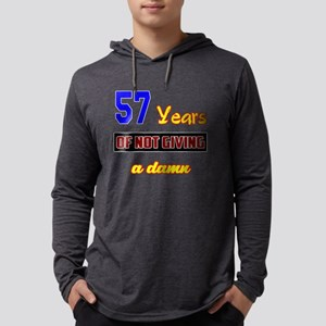 57 Years of not giving a damn Mens Hooded Shirt