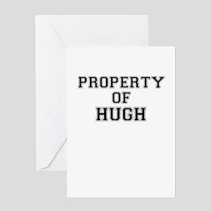 Property of HUGH Greeting Cards