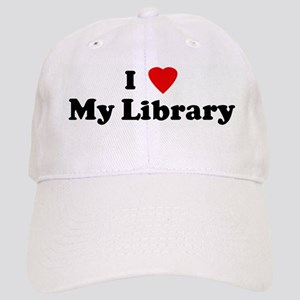 I Love My Library Cap