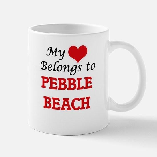 My Heart Belongs to Pebble Beach California Mugs