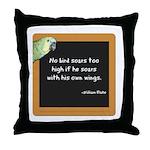 No bird soars too high Throw Pillow