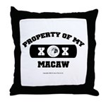 Team Macaw Throw Pillow