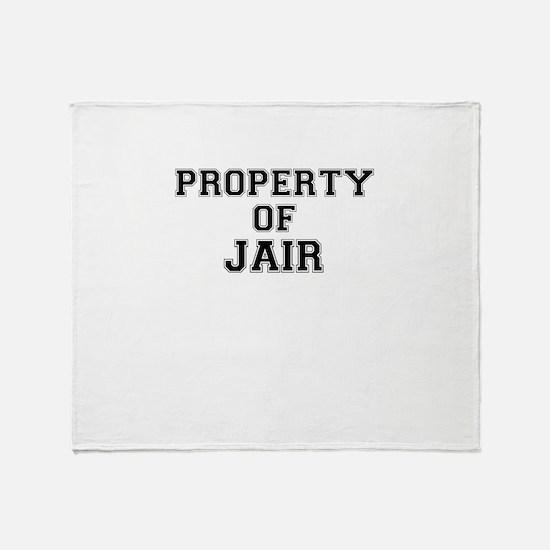 Property of JAIR Throw Blanket