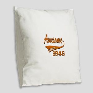 Awesome Since 1938 Birthday De Burlap Throw Pillow