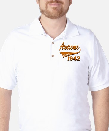 Awesome Since 1937 Birthday Designs Golf Shirt