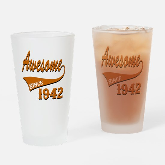 Awesome Since 1937 Birthday Designs Drinking Glass