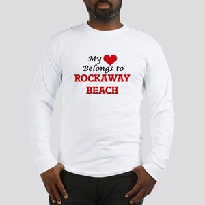 My Heart Belongs to Rockaway B Long Sleeve T-Shirt