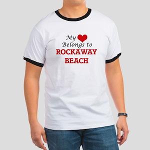 My Heart Belongs to Rockaway Beach Califor T-Shirt