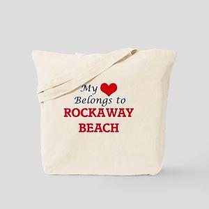 My Heart Belongs to Rockaway Beach Califo Tote Bag