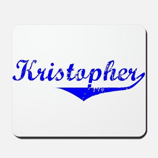 Kristopher Vintage (Blue) Mousepad