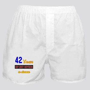 42 Years of not giving a damn Boxer Shorts