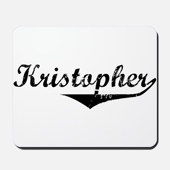 Kristopher Vintage (Black) Mousepad