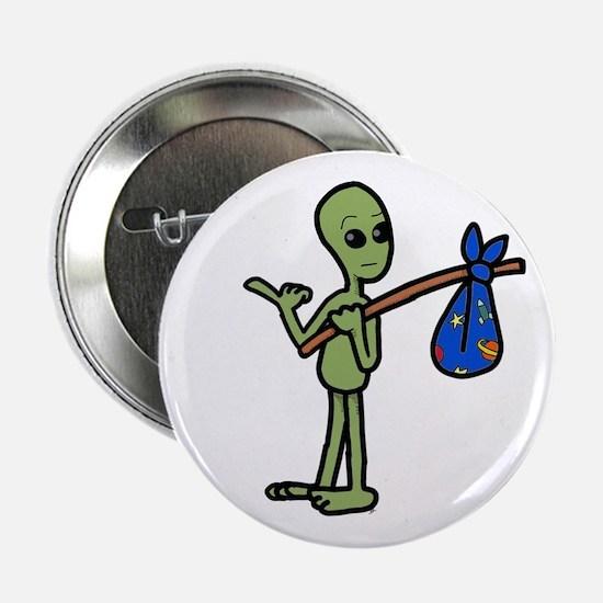"hitchhiking Alien 2.25"" Button"