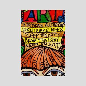 Art Brain Rectangle Magnet