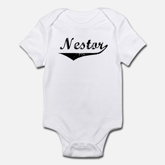 Nestor Vintage (Black) Infant Bodysuit