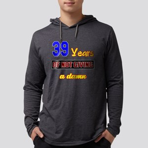 39 Years of not giving a damn Mens Hooded Shirt