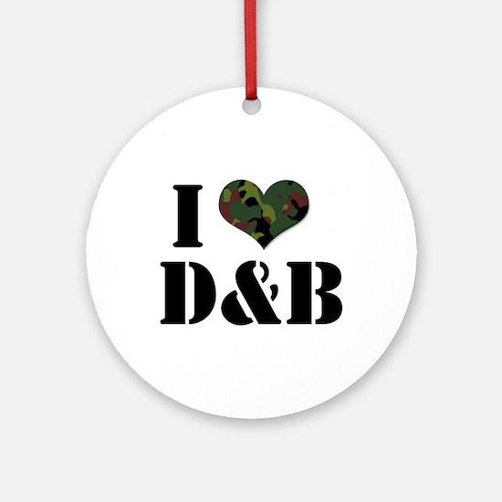 I Heart D&B Ornament