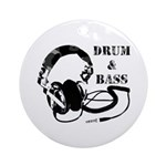 Drum and Bass Headphones Ornament (Round)