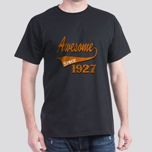 Awesome Since 1927 Birthday Designs Dark T-Shirt