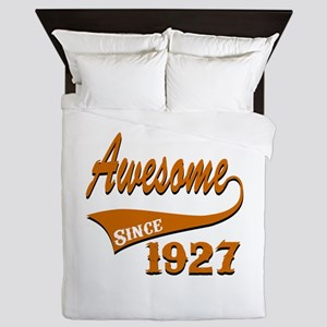 Awesome Since 1927 Birthday Designs Queen Duvet