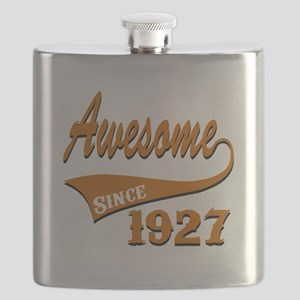 Awesome Since 1927 Birthday Designs Flask