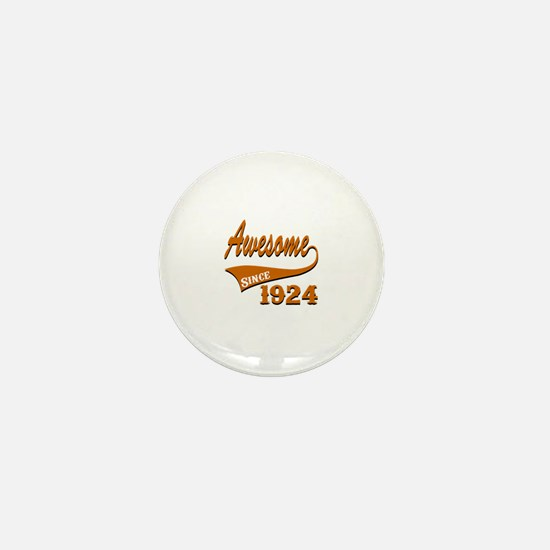 Awesome Since 1924 Birthday Designs Mini Button