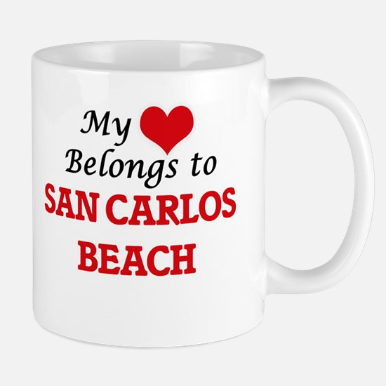 My Heart Belongs to San Carlos Beach Californ Mugs