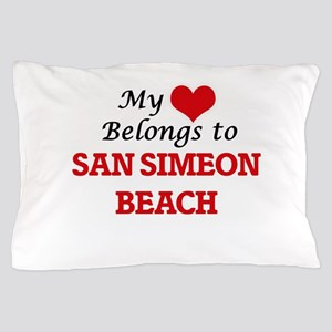 My Heart Belongs to San Simeon Beach C Pillow Case