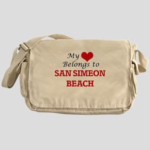 My Heart Belongs to San Simeon Beach Messenger Bag