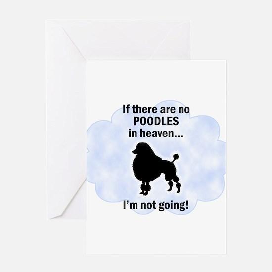 Standard Poodles In Heaven Greeting Card