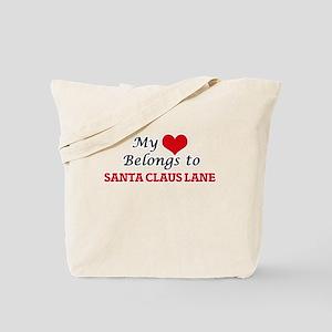 My Heart Belongs to Santa Claus Lane Cali Tote Bag