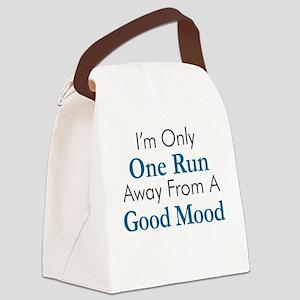 One Run Away Good Mood Canvas Lunch Bag
