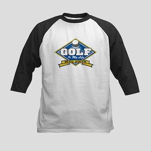 Golf Is My Life Kids Baseball Jersey