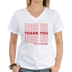 Shopping Bag Women's V-Neck T-Shirt