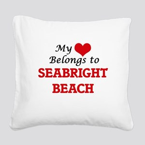 My Heart Belongs to Seabright Square Canvas Pillow