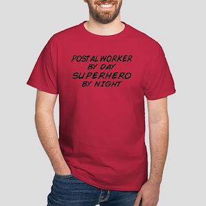 Postal Worker Day Superhero Night Dark T-Shirt