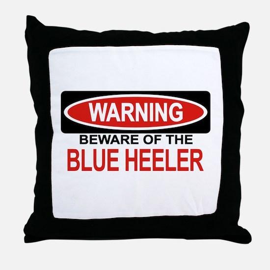 BLUE HEELER Throw Pillow
