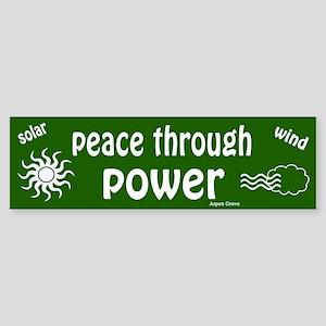 Peace Through Power Bumper Sticker