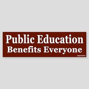 Public Education Benefits Bumper Sticker - red