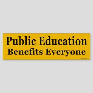 Public Education Benefits Bumper Sticker - yel