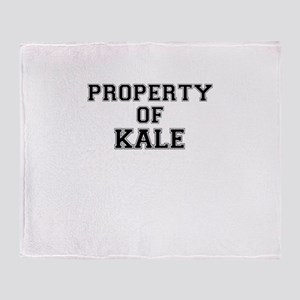 Property of KALE Throw Blanket