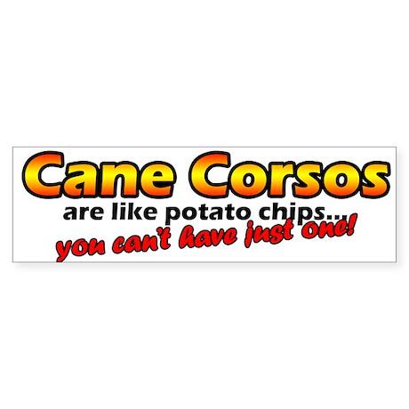 Potato Chips Cane Corso Bumper Sticker