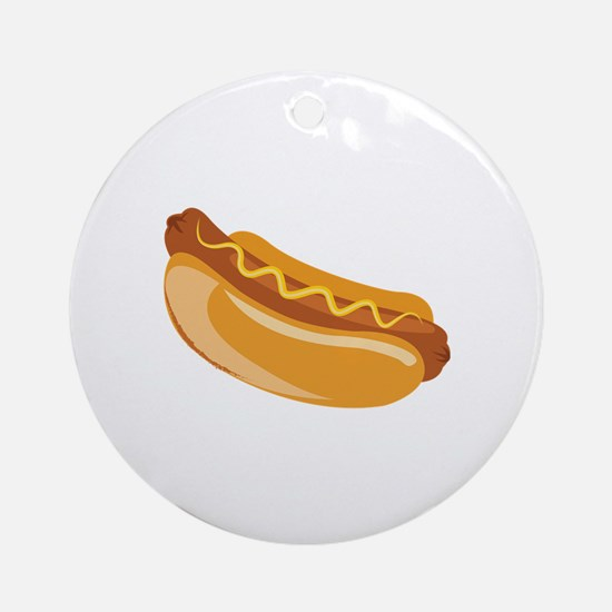 Hot Dog Round Ornament