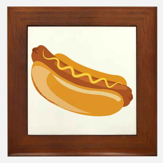 Hot Dog Framed Tile
