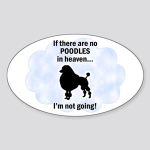 Toy Poodles In Heaven Oval Sticker