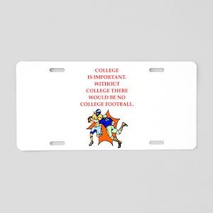 college Aluminum License Plate